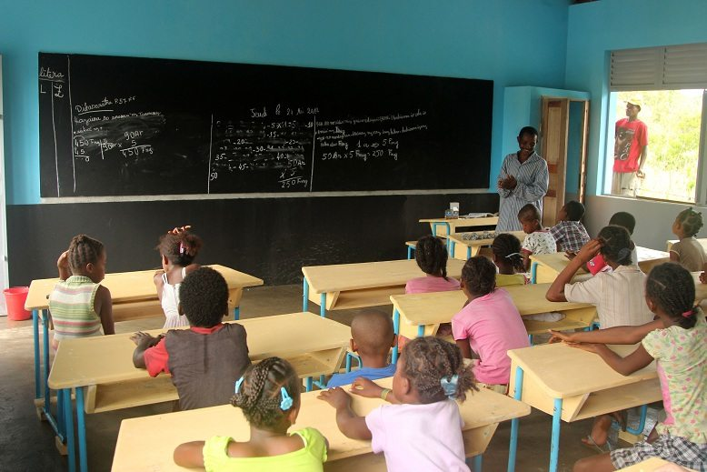 Children in Madagascar school