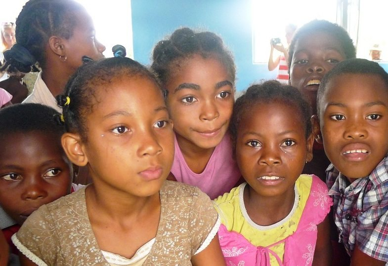Students in Madagascar