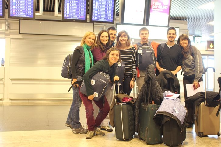 At Barajas airport, ready to go to China - by Menchu Iribas