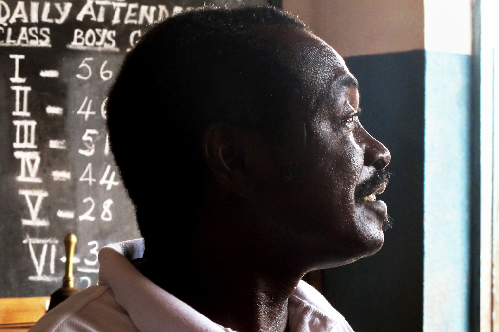 Mr. Dumbuya, Teacher at RC Primary School, Foredugu village - By Melani Schultz