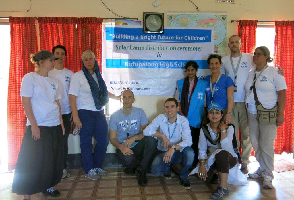 IWitnesses in the Kutupalong High School - By UNHCR