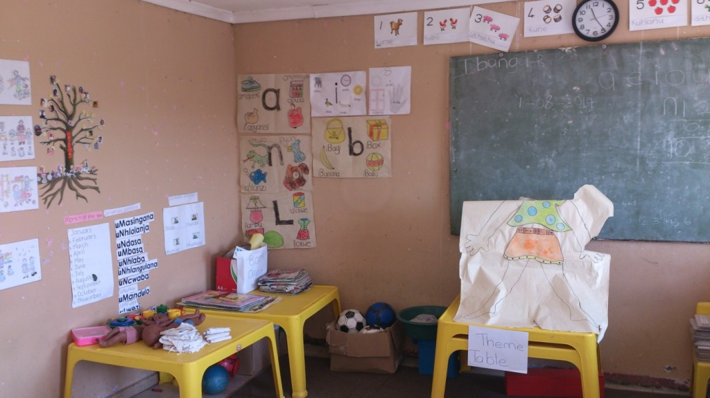 The Grade R classroom full of creativity at Umfudlana Combined School. Photographer: Johanna Heuren