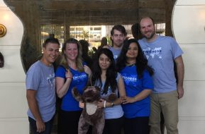 Dean, Marielle, Teddy, Shambhavi, Damien, Nayana and Jordi are excited to start the trip! - by Julia Curtin