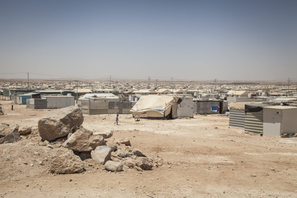 Overview of the Za'atari refugee camps where almost 80,000 people have their new homes.  Picture by Baptiste Collard.