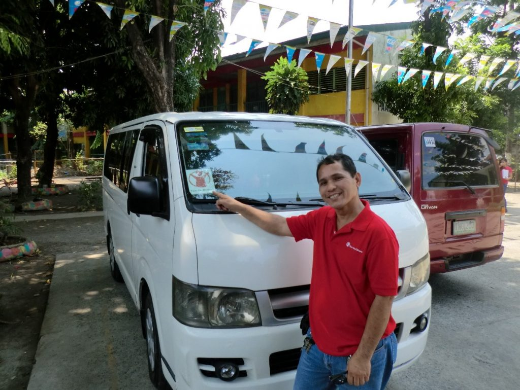 Number 1 driver of the Philippines, Kuya Tony. Photograph by Nick van Kampen
