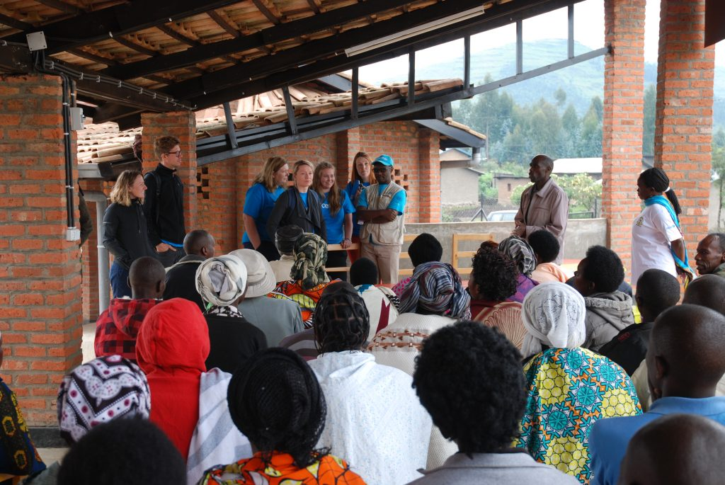 Parents at the Early Childhood Development and Family Centre, Nyabihu District. Copyright Felix McCann