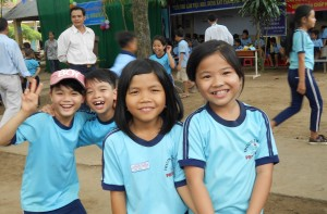 Pupils from the primary school