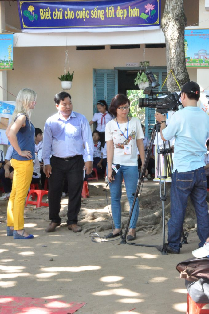 Ho Chi Minh TV Channel was present to make a report on our visit