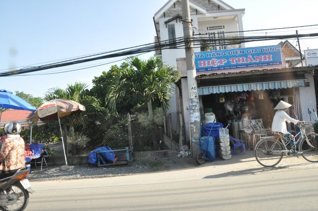 Driving out to Cu Chi District on the outskirts of Ho Chi Minh City