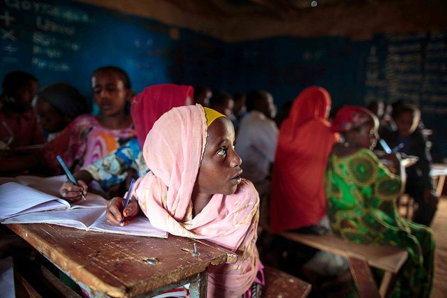 Pupils attend a class at Tutis Primary School in Oromia State of Ethiopia 26 November 2013. © UNICEF