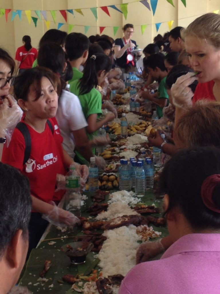 The Boodle Fight. Photograph by Stephanie Schwering