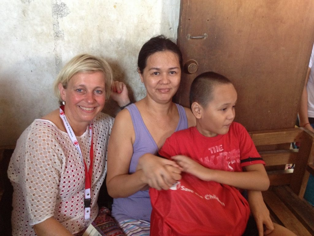 Gemwell de Castro with his mother Noella and Stephanie. Photograph by Jona Danao