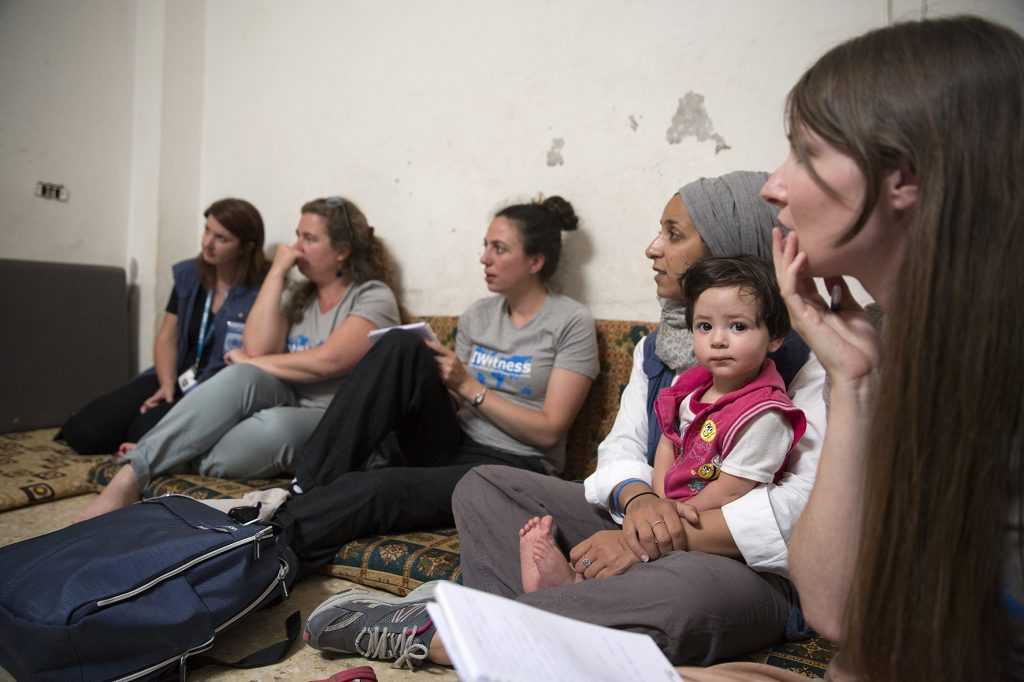 Our group visiting Mohammed and his family. Picture by Ann Luyckx.