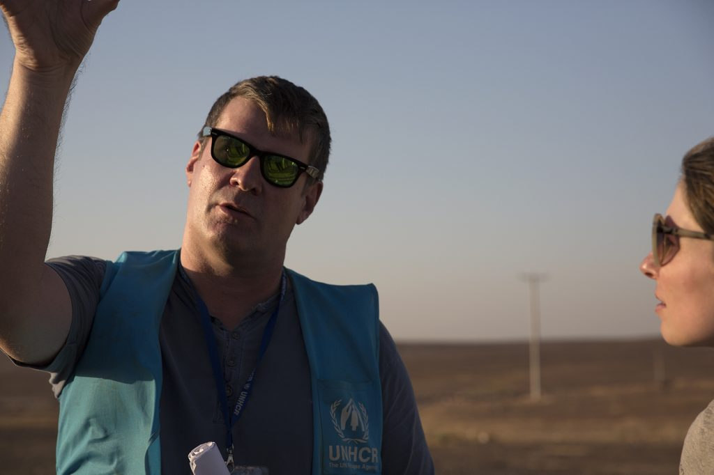 Pearce Cullinane, energy engineer, shows us where the solar power plant will be installed. Picture by Ann Luyckx.