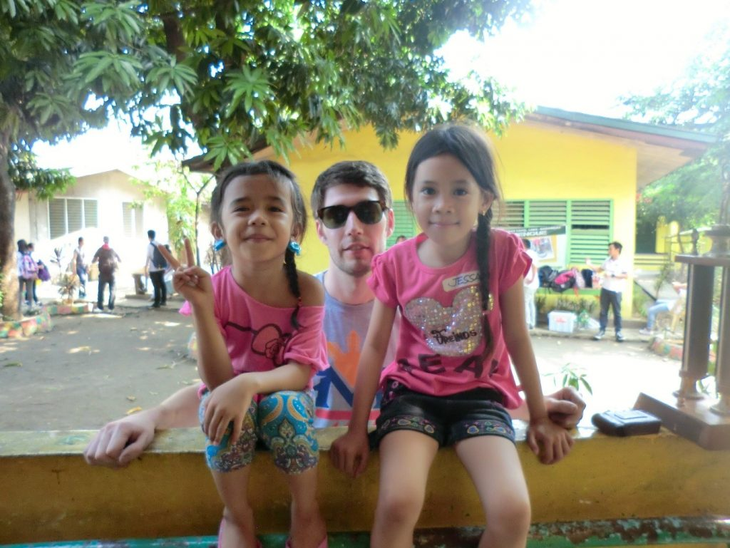 From left to right: Jeselle, me and Jessa. Photograph by Jerly Villanada