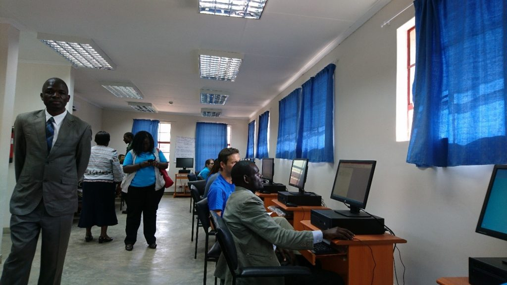 September 20, 2016. At the Chiradzulu Teacher's College, built with the support of UNICEF, prospective teachers learn how to use a computer - for most student teachers it is the very first time using a computer. By Norbin