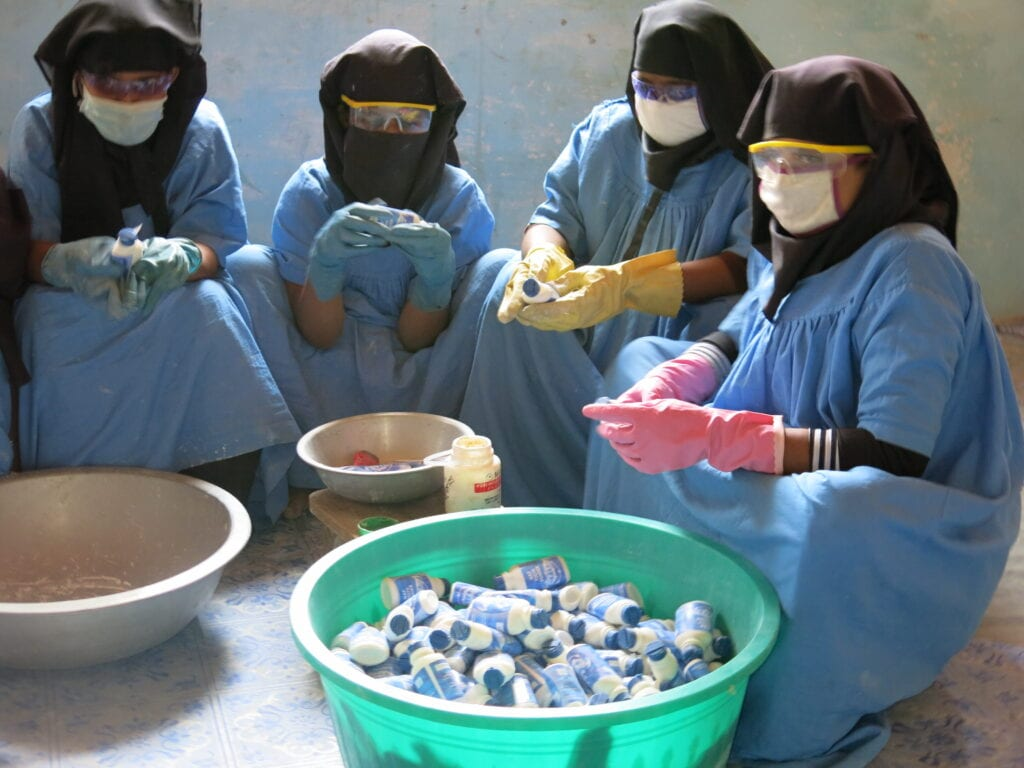 Production of toothpaste Womens Center Kutupalong Refugee Camp - By Michela Trombini