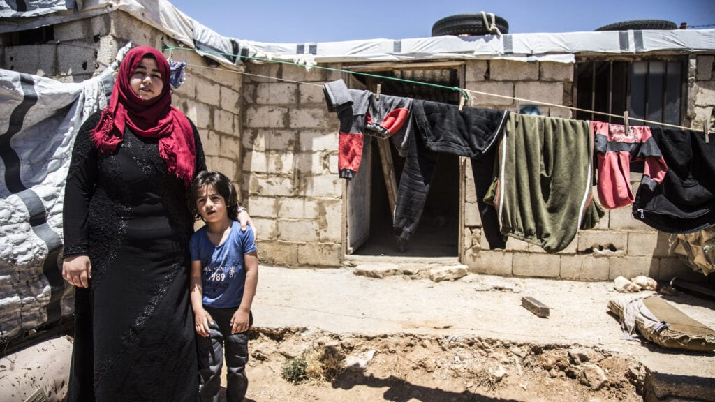Shadi, a 5-year-old Syrian boy and his mother