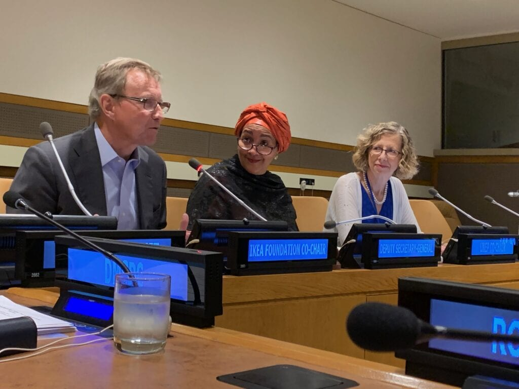 UNGA 2019 Roundtable Minimise Carbon Footprint