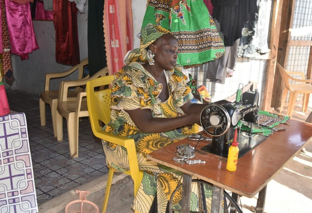 Woman entrepreneur working in her shop